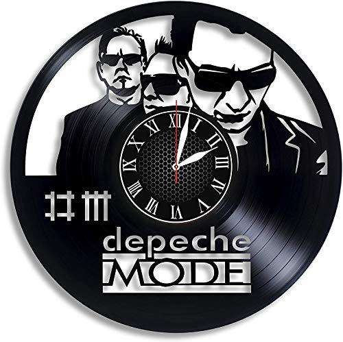 Wanggang Depeche Mode Disco de Vinilo Reloj de Pared Retro Cumpleaños Año Nuevo Regalo de cumpleaños de Navidad Personalidad Creativa decoración de la Pared del diseño del hogar