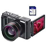 Digital Video Camera Camcorder Full HD 1080P 24.0MP YouTube Vlogging Camera with Wide Angle Lens and 32GB SD Card, 3.0' Screen, WiFi Function, Face Detection, Flash Light, 16 Digital Zoom