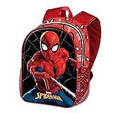 KARACTERMANIA Spiderman -Mochila Basic, Rojo