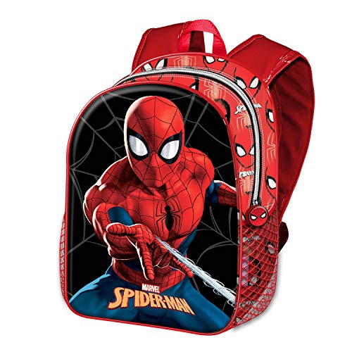 KARACTERMANIA Spiderman -Mochila Basic, Rojo