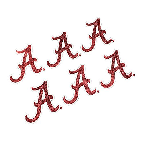 EyeBlack Alabama Crimson Tide NCAA Glitter Decals, Perfect for Game Day and Tailgate, 6 Decals