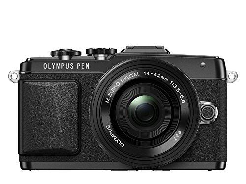 Olympus PEN E-PL7 Kompakte Systemkamera (16 Megapixel, elektrischer Zoom, Full HD, 7,6 cm (3 Zoll) Display, Wifi) inkl. 14-42 mm Pancake Objektiv schwarz/schwarz