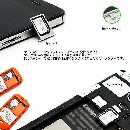 CiscleNanoSIMMicroSIM変換アダプター4点セットiPhone5S/5C/5/4S/4/3GS/3xperiaスマホ拡張便利micro全部入り交換代替(ブラック)