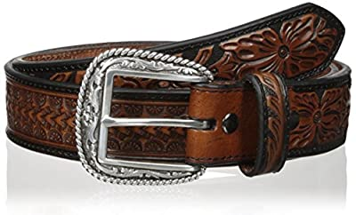 Ariat Men's Arrow Tooled Floral Billit, Black/Brown, 40