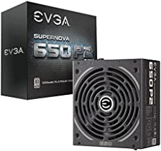 EVGA SuperNOVA 650 P2, 80+ PLATINUM 650W , Fully Modular , EVGA ECO Mode, 10 Year Warranty , Includes FREE Power On Self Tester, Power Supply 220-P2-0650-X1,Black