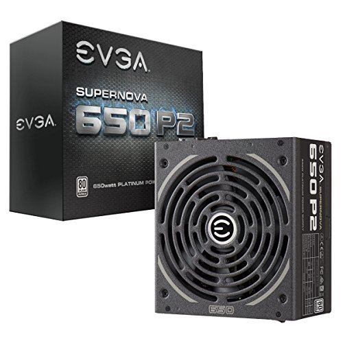EVGA Supernova 650 P2, 80+ Platinum 650W, Fully Modular, EVGA ECO Mode, 10 Year Warranty, Includes Free Power On Self Tester, Power Supply 220-P2-0650-X1