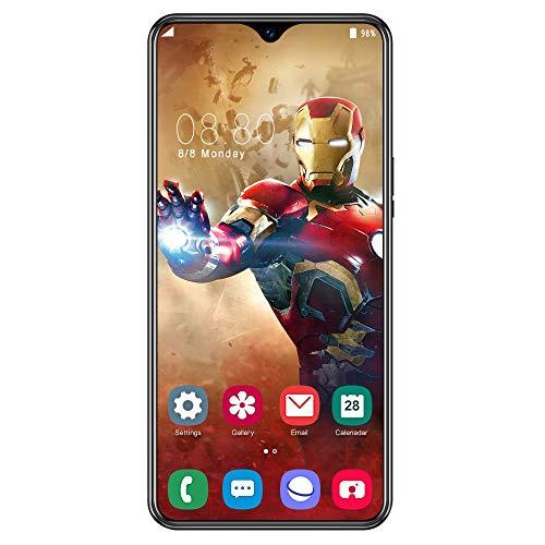 WYXR Cellulari Offerte, Quad-Core Dual SIM 4G, 6.5  HD+ Android 9.1, A81 Smartphone Economici, 24MP + 13MP Doppia Fotocamera, Bluetooth GPS