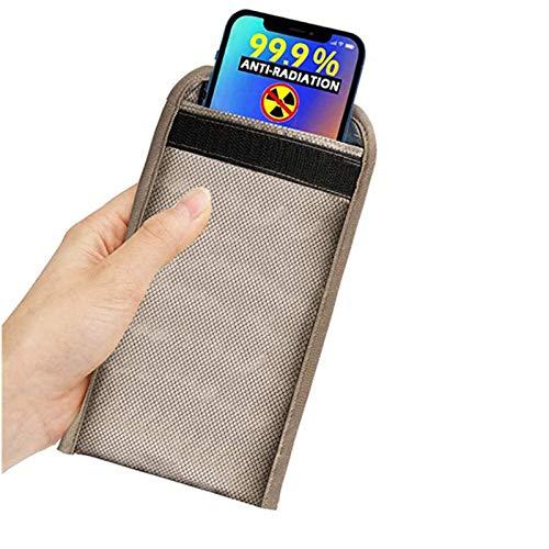 ZCVB Anti-Radiación Bolso del Teléfono Celular Bolsa De Faraday De Fibra Plateada Escudo RFID GPS 5G EMF Bolsas De Bloqueo De Señales Anti-Seguimiento Anti-Espionaje