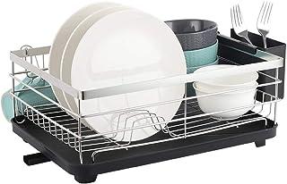 Nandae Support de séchage pour égouttoir à Vaisselle en Acier Inoxydable, Support de Rangement de comptoir de Cuisine, égo...