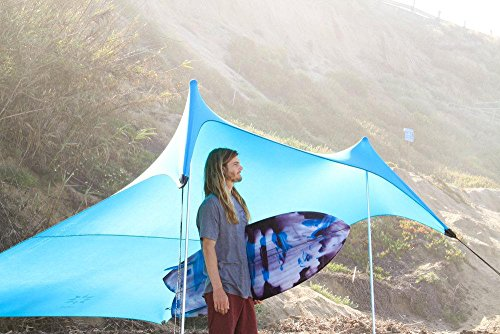 Neso Grande Beach Tent with Sand Anchor, Portable Canopy for Shade - Multiple Colors (Teal)
