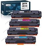 OfficeWorld Cartuccia Toner 201X Sostituzione per HP 201X 201A CF400X CF400A Compatibile per HP Color LaserJet Pro MFP-M277DW MFP-M277N MFP-M274N MFP-M277 MFP-M274 M252DW M252N M252 (4 Pezzi)