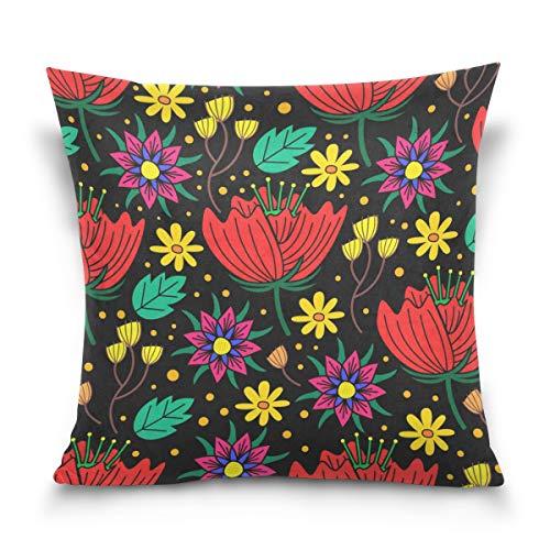KAIHONG Taie d'oreiller décorative en Velours de Coton Doux Rose Flamant, Multi12, 20\