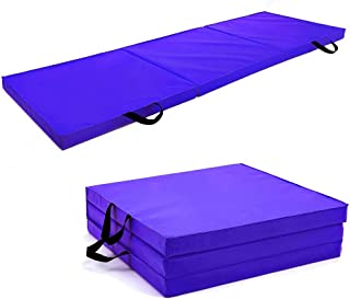 Soomloom 三段 折りたたみ式 スポーツ 体操 マット トレーニング スポーツマット 180X60CM 厚5.5CM