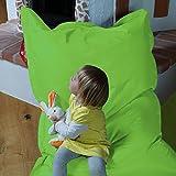 QSack Kindersitzsack Outdoorer, mit Innensack und Deutscher Qualitätsfüllung, 100x140 cm (apfelgrün)