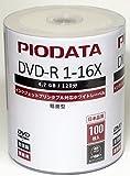 PIODATA 業務用 DVD-R 台湾製 16倍 ワイドプリンタブル DR47WP100BZ 100枚