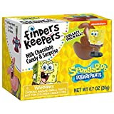 Finders Keepers Milk Chocolate Eggs - SpongeBob Toy Surprise Candy Gifts - Pack of 6 Milk Chocolate Candy Eggs With Assorted SpongeBob Toys