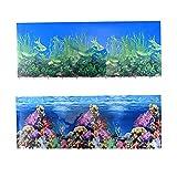 jroyseter sfondo acquario adesivi biadesivi 3d sfondo acquario carta da parati subacquea decorazione hd poster adesivo fondale corallo per acquario domestico (c)