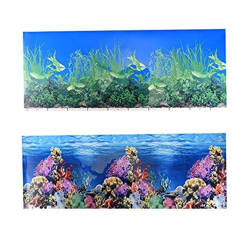 Jroyseter Sfondo Acquario Adesivi Biadesivi 3D Sfondo Acquario Carta da Parati Subacquea Decorazione HD Poster Adesivo Fondale Corallo per Acquario Do