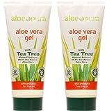 Aloe Pura, Organic Aloe Vera Gel, paquete 2 x 200 ml