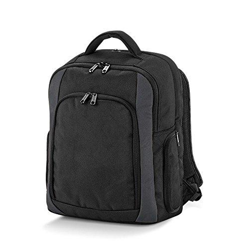 Quadra–Rucksack für Computer–qd968–Tungsten Laptop backpack- Farbe schwarz