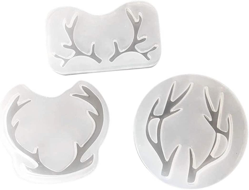 SUPVOX Deer Horn Silicone Mold Cake Tool Cupcake Dessert Chocolate Fondant Jewelry Mold