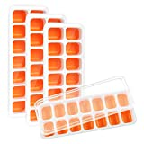 Kootek 4 Pack Silicone Ice Cube Trays with Lid - Flexible 56-Ice...