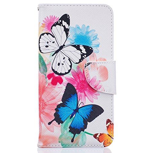 Tosim Huawei GT3 Hülle Leder, Klapphülle mit Kartenfach Brieftasche Lederhülle Stossfest Handy Hülle Klappbar für Huawei GT3 / Honor 5C - TOBFE52618#6