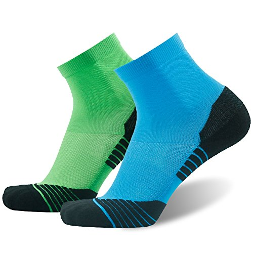 Tennis Ankle Socks HUSO High Performance Comfortable Stretchy Seamless Quarter Compression...