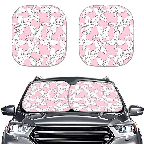 Amzbeauty 2 parasoles plegables universales para el parabrisas de coche, se adaptan a la mayoría de coches, sedán, vagón, furgoneta, todoterreno. Mantén tu vehículo fresco