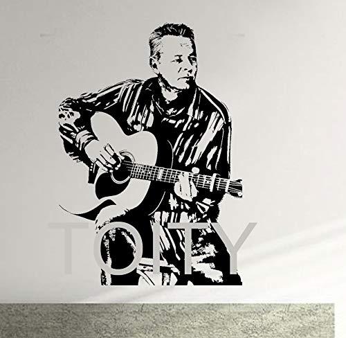 Tommy Emmanuel Wandtattoo Australische Maton Gitarre Vinyl Aufkleber Promi Art Decor Bar Studio Club Innenraum Wandbild 120x83 cm