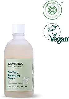 AROMATICA Tea Tree Balancing Toner 4.40oz / 130ml, Vegan, EWG VERIFIED