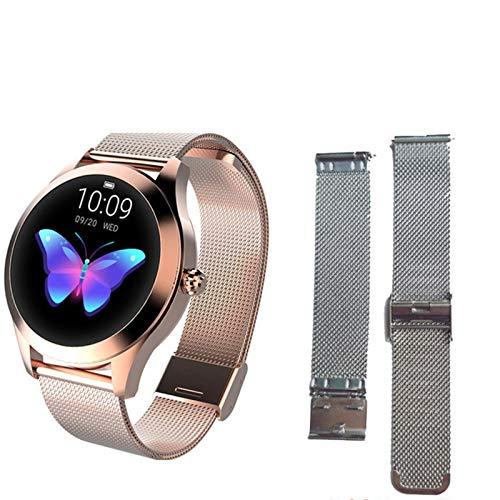 Women's Smart Watch KW10, Pulsera Linda, Monitoreo del Sueño De Ritmo Cardíaco IP68 Reloj Inteligente A Prueba De Agua Conexión De La Banda De Frecuencia para Android iOS,M
