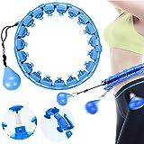 Smart Gewichtsverlust Hula Hoop,Hula Hoop,Fitness Hula Hoop Reifen,Fitness Hula Hoop zur Gewichtsreduktion und Massage,Schlankheits Kreis zur Gewichtsverlust,verstellbare Hula Hoops(Blau)