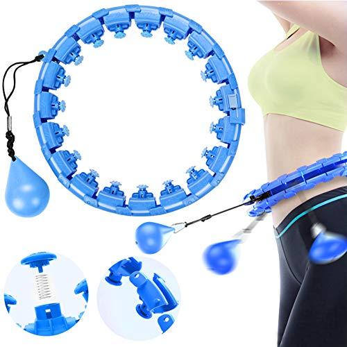 Smart Fitness Reifen, Gewichtsreduktion und Massage,Hoola-Reifen,Gymnastik Kreis,Fitnessreifen Einstellbar,Schlankheits Kreis zur Gewichtsverlust,Fitness-Reifen für Erwachsene