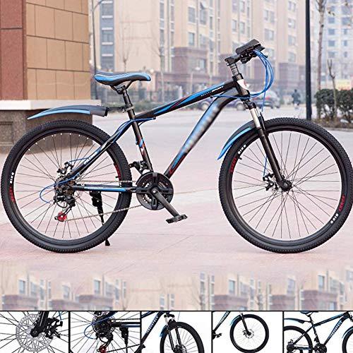 TRGCJGH Mountain Bike Bici da Motoslitta da Spiaggia Biciclette con Doppio Freno A Disco Acciaio Ad Alto Tenore di Carbonio Uomo Donna 24 velocità per Uso Generale,B-26in