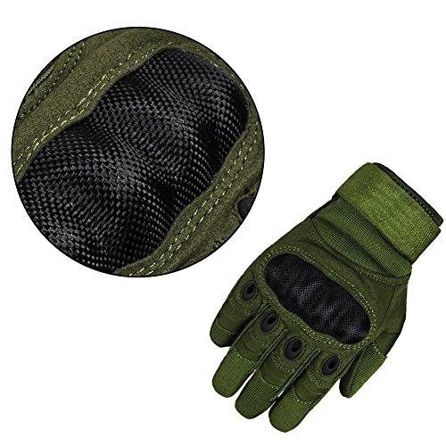 Limirror Herren Taktische Handschuhe Handschuhe Fahrradhandschuhe Motorrad Handschuhe outdoor sport Handschuhe Fitness Handschuhe Army Gloves Ideal für Airsoft, Militär, Paintball, Airsoft, Jag (Grün, L) - 7