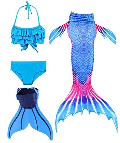 ShePretty shepretty Meerjungfrauenschwanz zum Schwimmen für Kinder,DH08beike,140