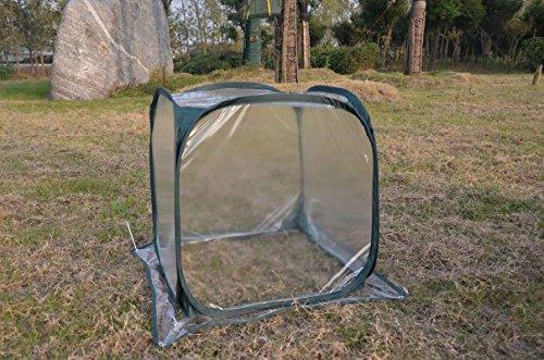Mitefu Cubierta de jardín plegable para invernadero de pájaros para evitar la...