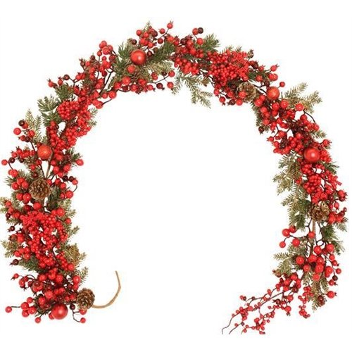 gifts @ thumpers Red Sparkle Berrie Garland 6ft - New for 2015