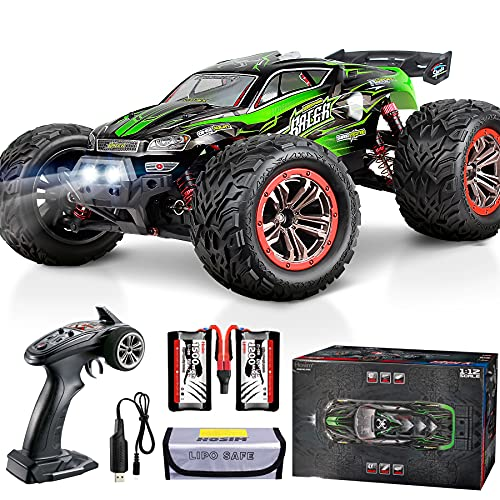 Hosim 9156 46+ KMH High Speed RC Monster Trucks, 1/12 Scale Large Size RC Cars For Adults Boys Kids- Radio Controlled RC Off Road Electronic Hobby Grade Remote Control Cars (Green)