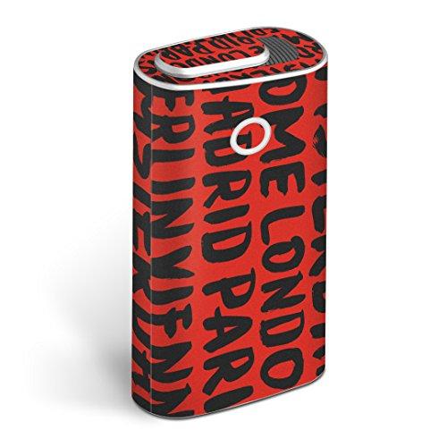 glo グロー グロウ 専用スキンシール 全面 + 天面 + 底面 360°フルセット カバー ケース 保護 フィルム ステッカー デコ アクセサリー 電子たばこ タバコ 煙草 デザイン 英語 外国 名前 010990