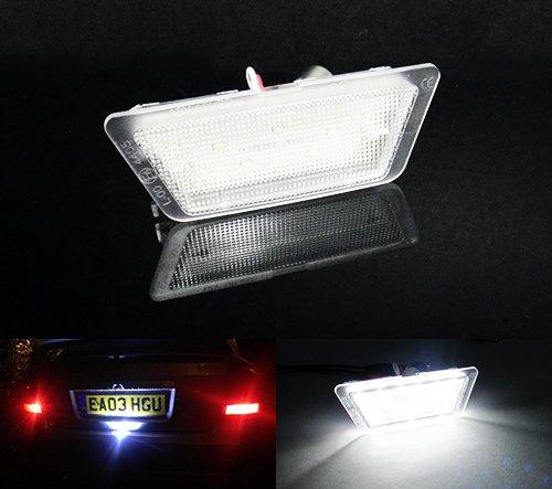 Éclairage de plaque d'immatriculation à LED blanc Canbus pour Astra G MK IV berline/berline 1998–04