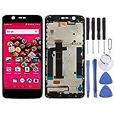 Kit de reparación de teléfono móvil con pantalla LCD y digitalizador completo con marco para ZTE Axon 7 Mini / B2017 / B2017G Pieza de repuesto (color negro)
