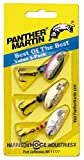 Panther Martin Best of The Best Bass Spinner Fishing Lure kit, Pack of 3, Silver