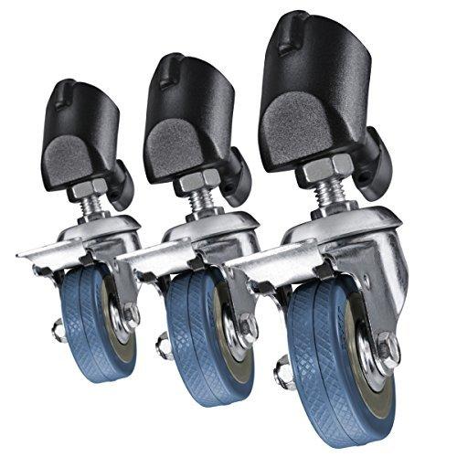 Walimex Tripod Wheels Pro - Juego de ruedas profesionales para trípodes, negro