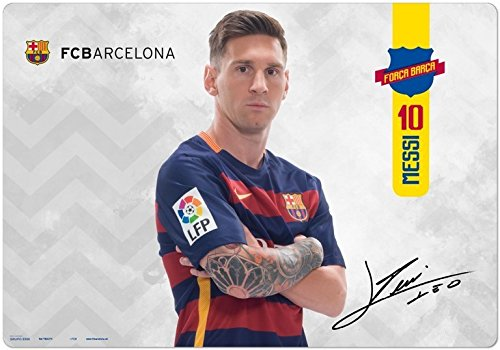 Vade FCB Barcelona Messi - Tapete escritorio, Vade escolar multifuncional, Protector escritorio - Producto con licencia oficial