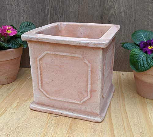 Blumentopf echt Terrakotta 20 cm , Blumenkübel für Garten und Wohnung Terracotta ........... kein Kunststoff, Blumen Pflanzgefäß