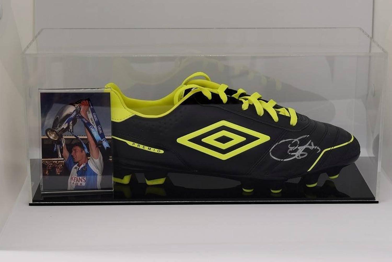 Sportagraphs Chris Sutton Signed Autograph Football Stiefel Display Case schwarzburn Rovers COA