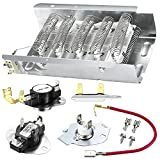 279838 Dryer Heating Element Relacement Kit Replaces AP3094254 3403585 8565582 PS334313 for Whirlpool & Kenmore Dryers - with 3392519 3977393 Thermal Fuse & 3387134 3977767 High-Limit Thermostat