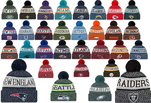 CS_NE New Era NFL 2018/2019 Sideline beanie cap muts met CS sticker - Raiders Seahawks Patriots